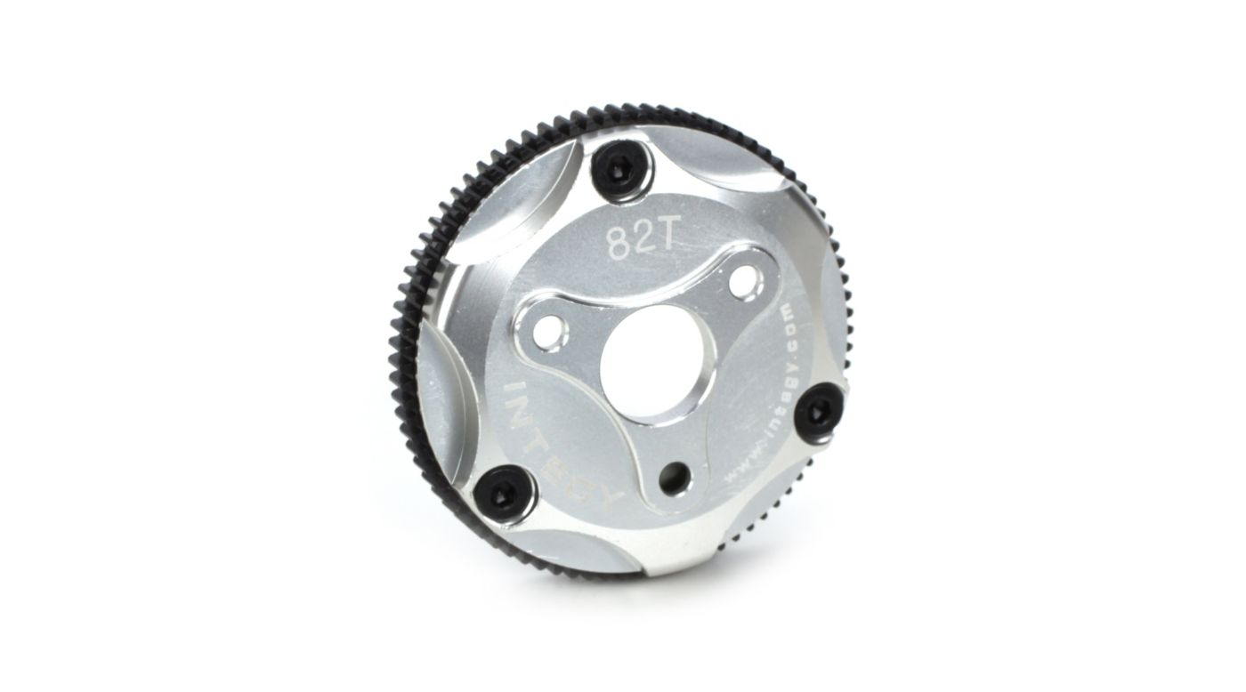 Image for 82T Metal Spur Gear, Silver: ST, RU, SLH from HorizonHobby