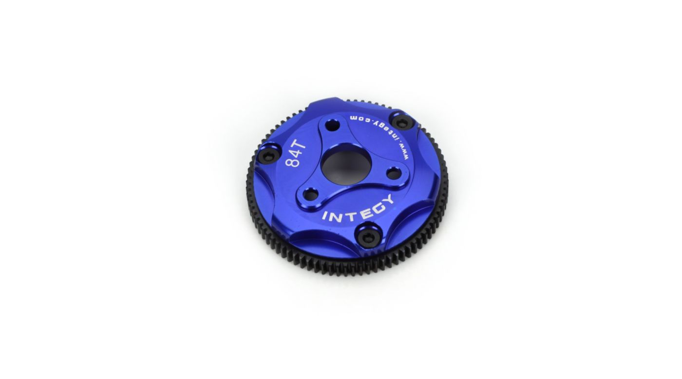 Image for 84T Metal Spur Gear, Blue: ST, RU, SLH from HorizonHobby