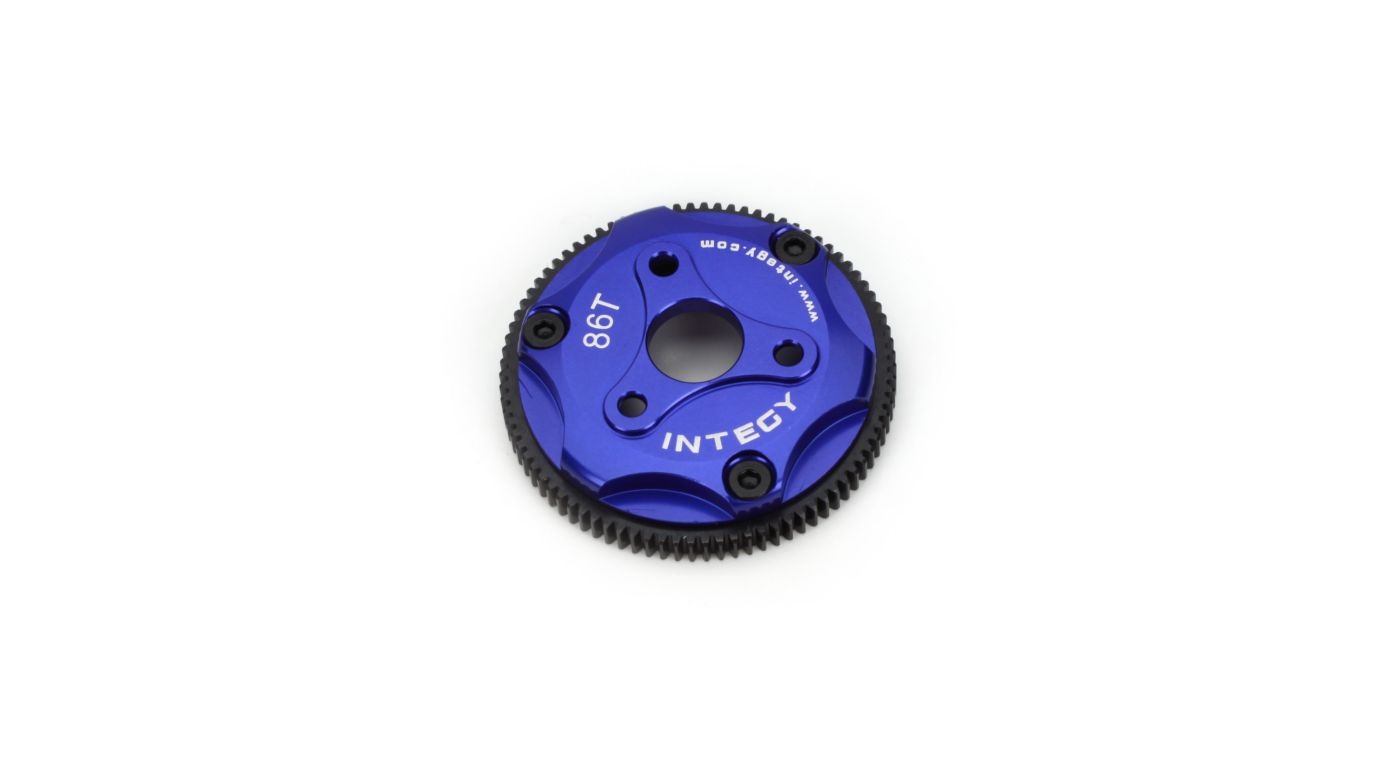 Image for 86T Metal Spur Gear, Blue: ST, RU, SLH from HorizonHobby