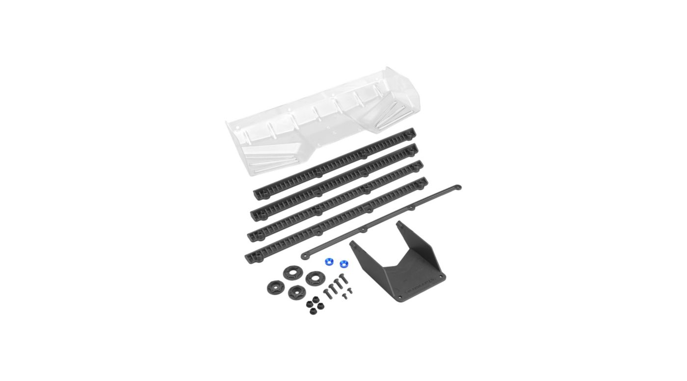Image for 1/8 Buggy/Truck Hybrid Pre-Trimmed Wing with Gurney Option, Black from HorizonHobby