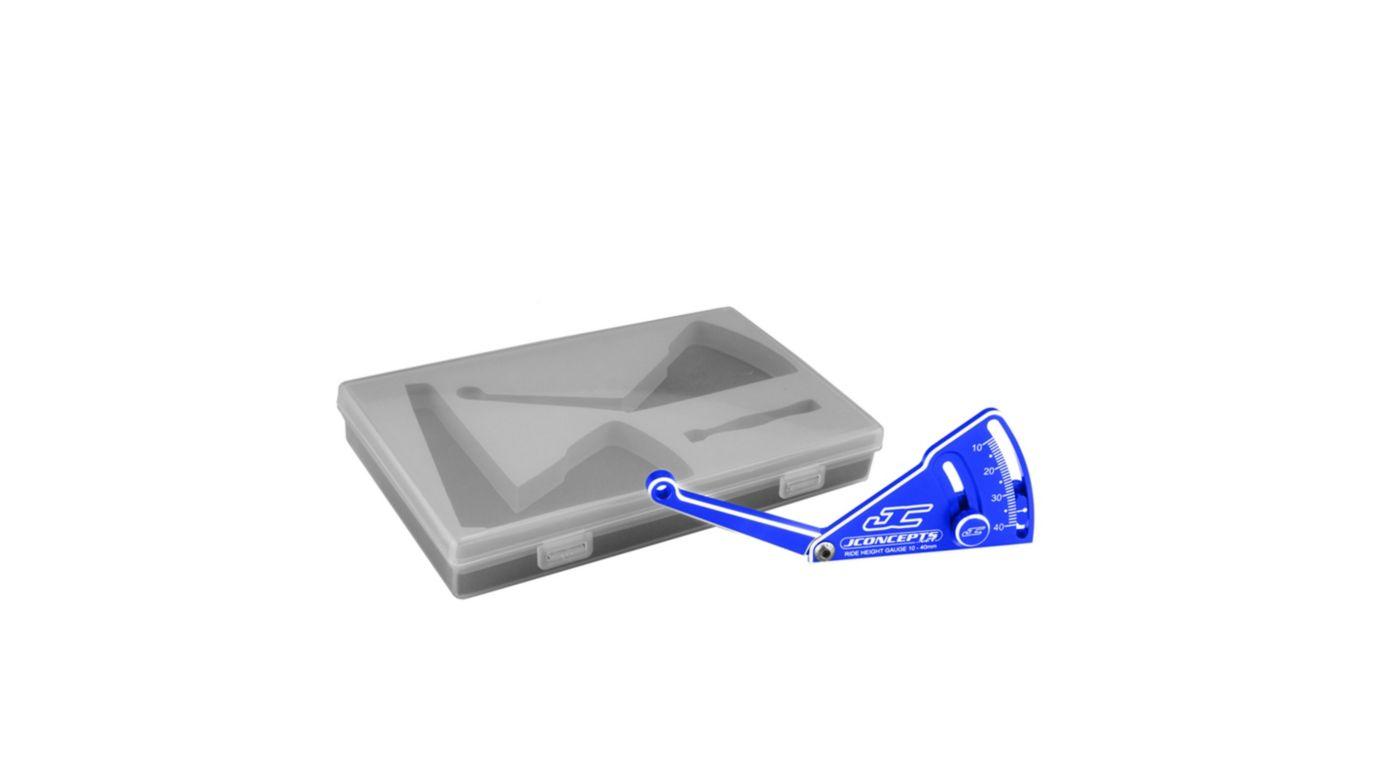Image for Aluminum Ride Height Gauge, 10–40mm, Blue from HorizonHobby