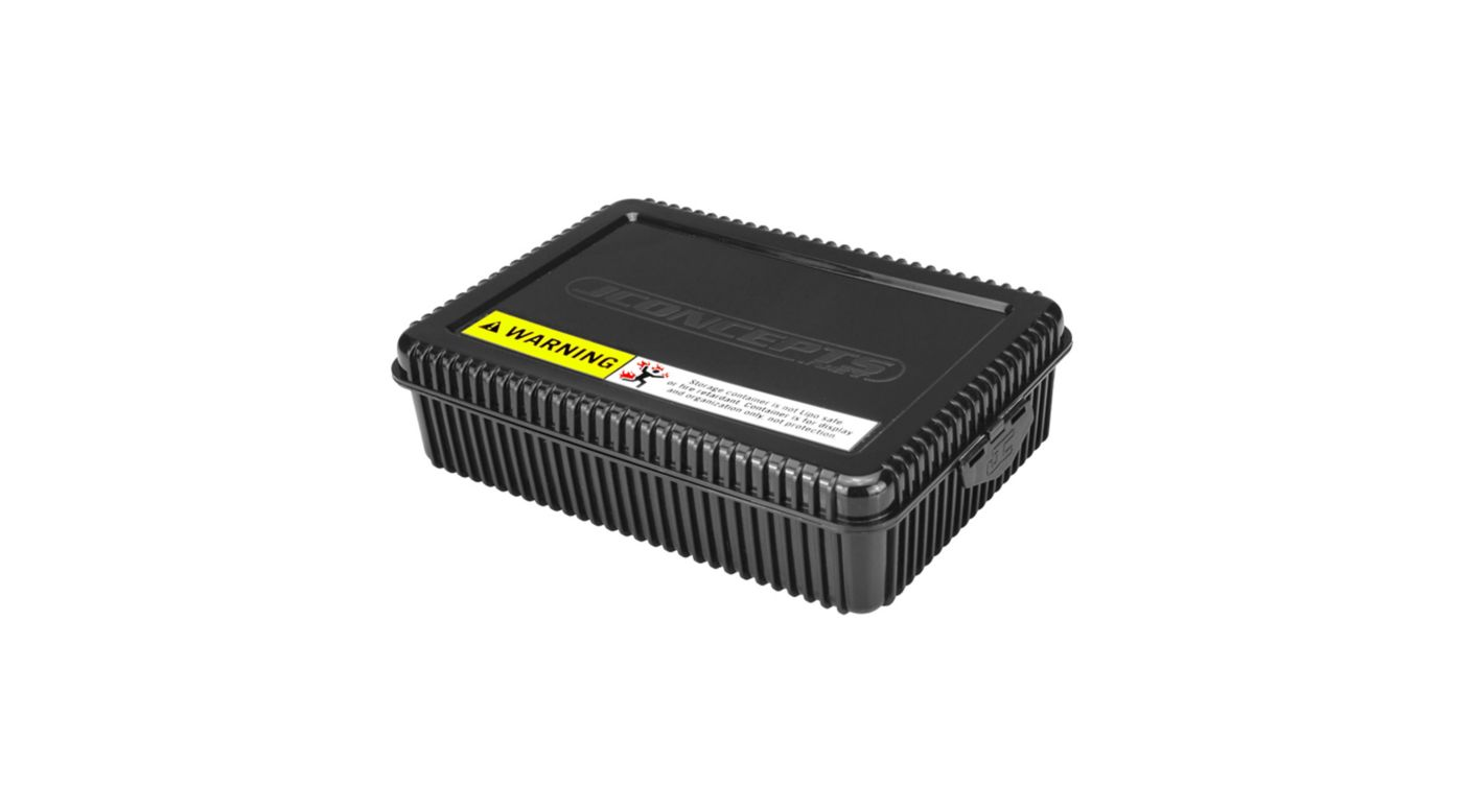 Image for Shorty Battery Storage Box with Foam Liner, Black from HorizonHobby