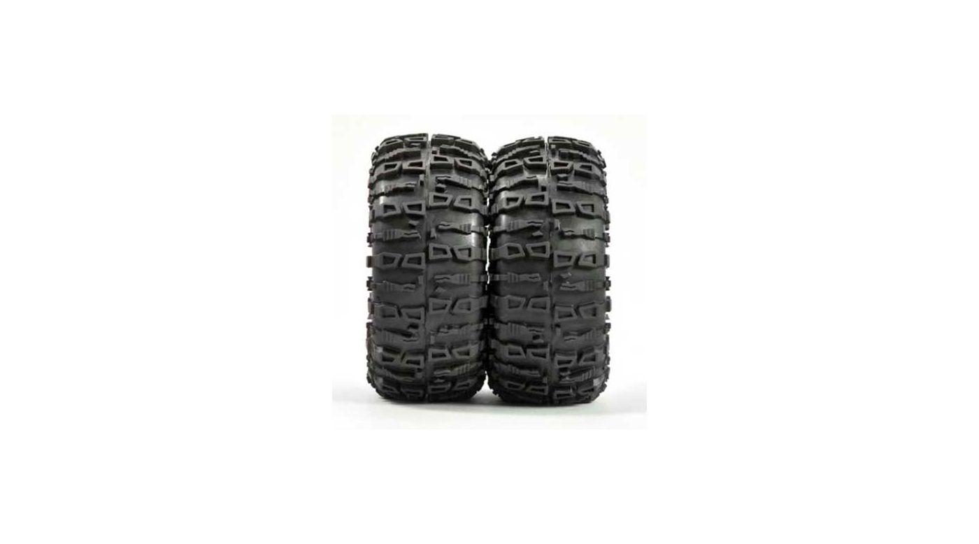 Image for Rocx Crawler Tire w/ Foam, Green: 2.2 Truck (2) from HorizonHobby