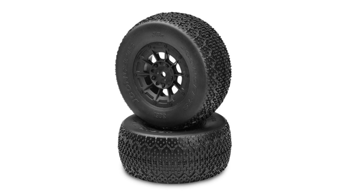 Image for 3D SC Tire, Green, Hazard 12mm Black Wheel: SCT-E from HorizonHobby