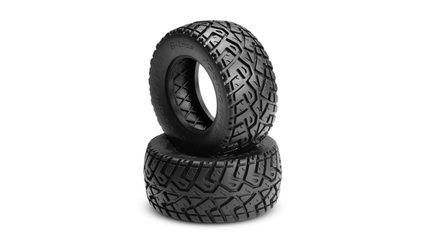 Image for G-Locs, Yellow, Mnt Hazard 12mm Wheel, Black: SC10 RS from HorizonHobby