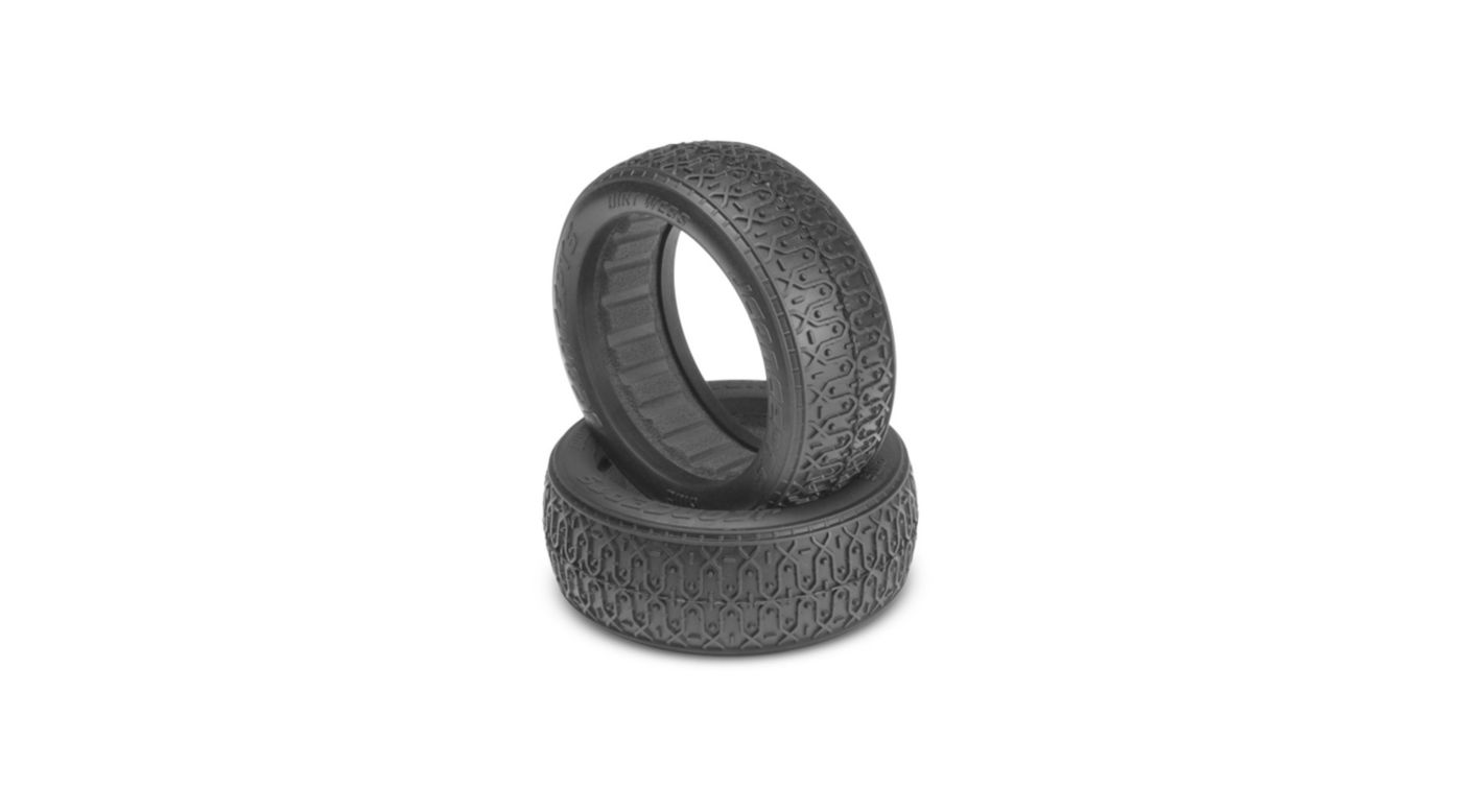 Image for Front Dirt Webs, Black: 60mm 4WD Buggy Wheel from HorizonHobby