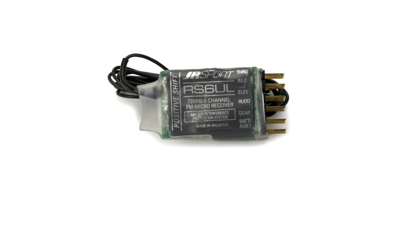 Image for 6-Channel UL Receiver w/o Crystal,POS Shift,JR/Air from HorizonHobby