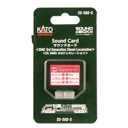 Kato 2-22022 Soundbox Sound Card 3rd Generation EMD Diesel Sound Files Card Fits Soundbox