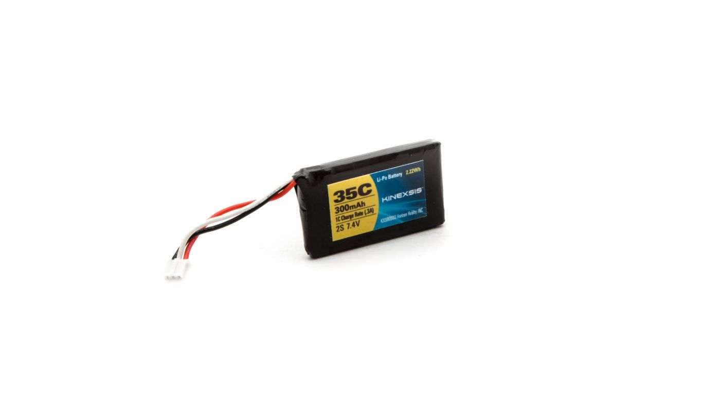 Image for 7.4V 300mAh 35C 2S LiPo Battery: Blade 130X from HorizonHobby
