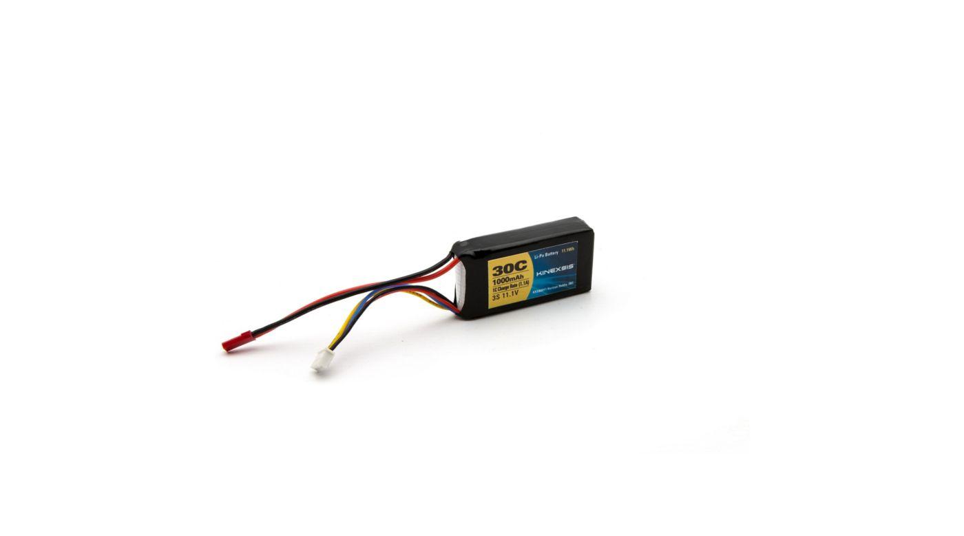 Image for 11.1V 1000mAh 30C 3S LiPo Battery, 18AWG: JST from HorizonHobby