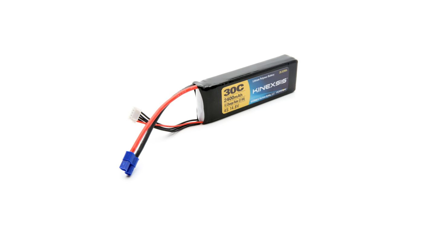 Image for 14.8V 2400mAh 30C 4S LiPo Battery, 12AWG: EC3 from Horizon Hobby