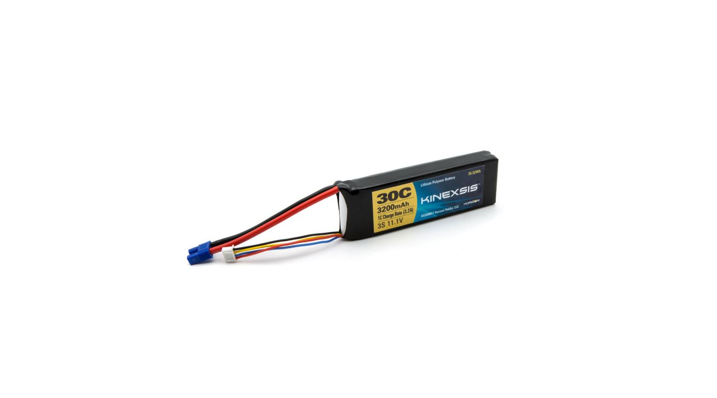 Image for 11.1V 3200mAh 30C 3S LiPo Battery, 12AWG: EC3 from HorizonHobby