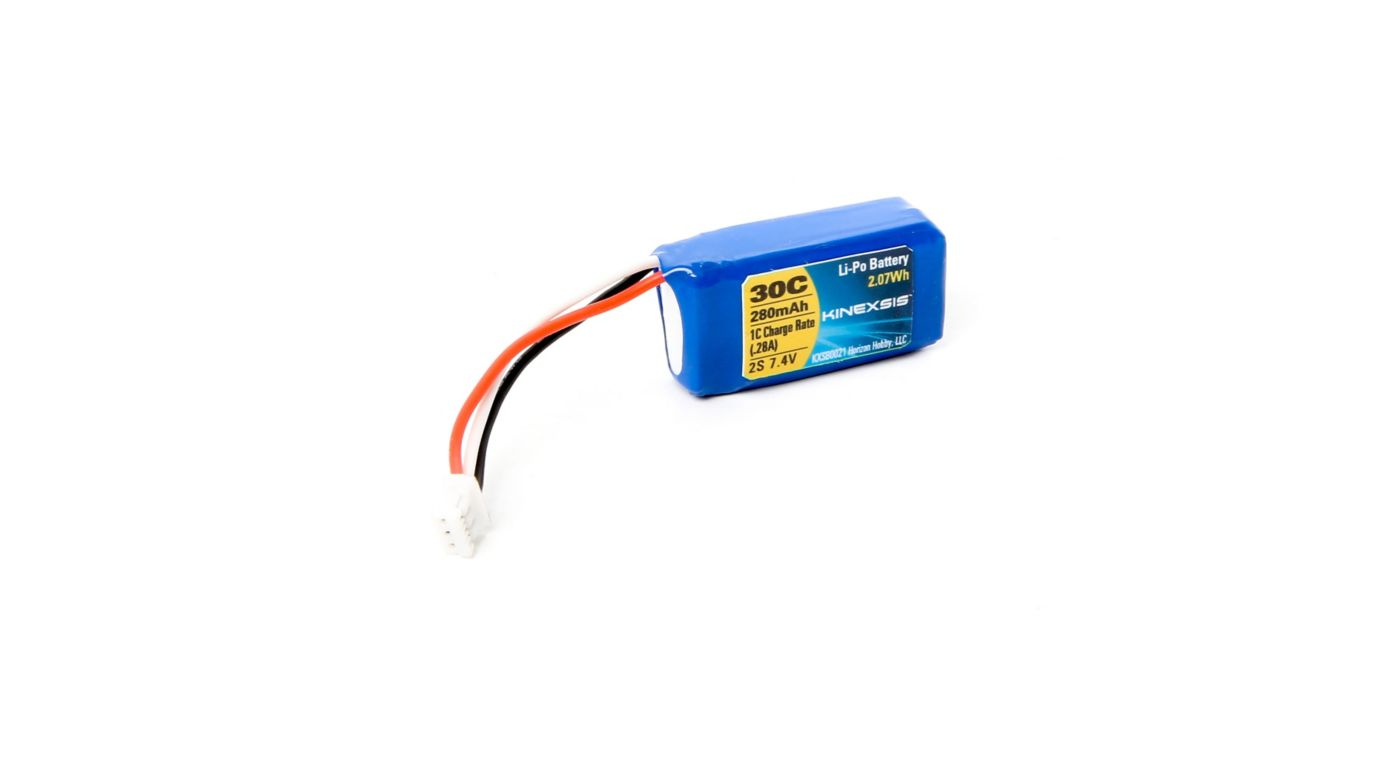 Image for 7.4V 280mAh 30C 2S LiPo Battery: PH Conn from HorizonHobby