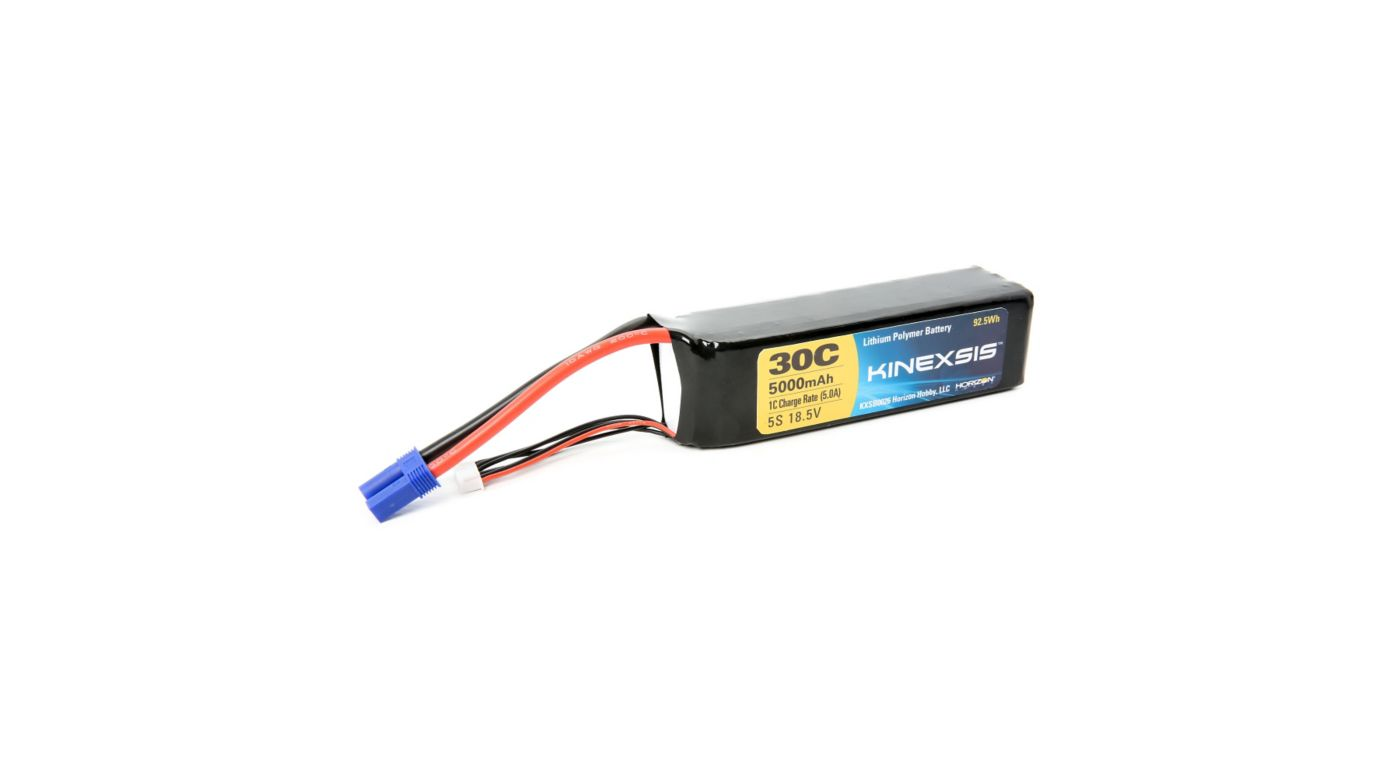 Image for 18.5V 5000mAh 30C 5S LiPo Battery, 10AWG: EC5 from HorizonHobby