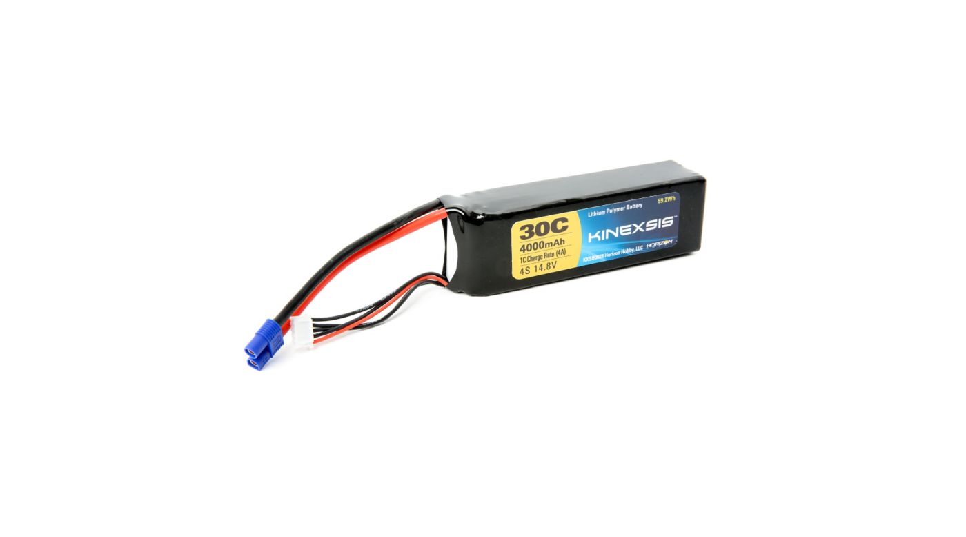 Image for 14.8V 4000mAh 30C 4S LiPo Battery, 12AWG: EC3 from HorizonHobby