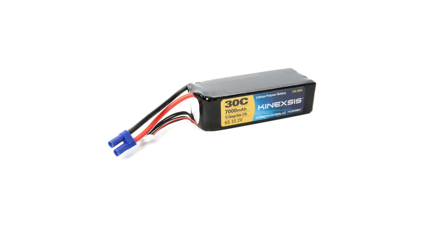 Image for 22.2V 7000mAh 30C 6S LiPo Battery, 10AWG: EC5 from HorizonHobby