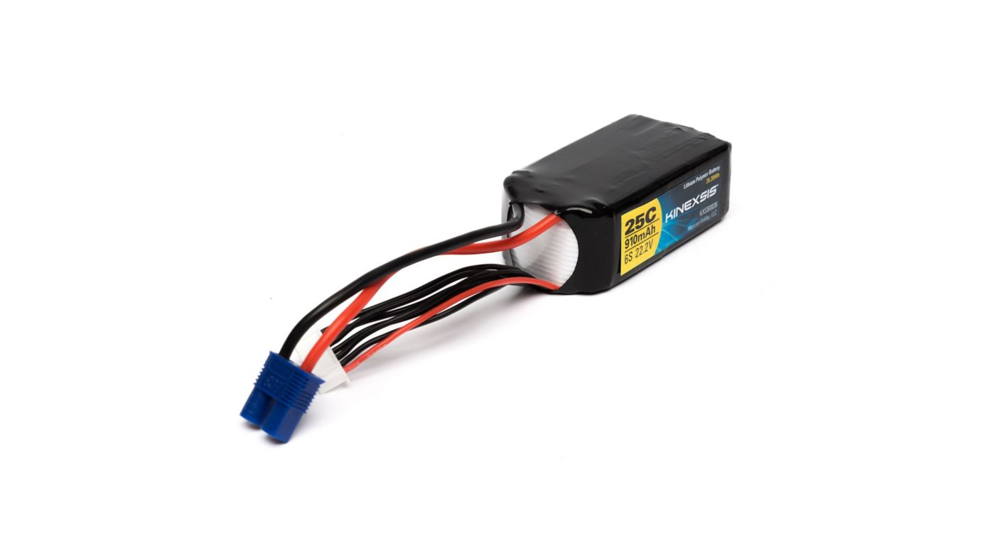 Image for 910mAh 6S 22.2V 25C LiPo: EC3 from HorizonHobby