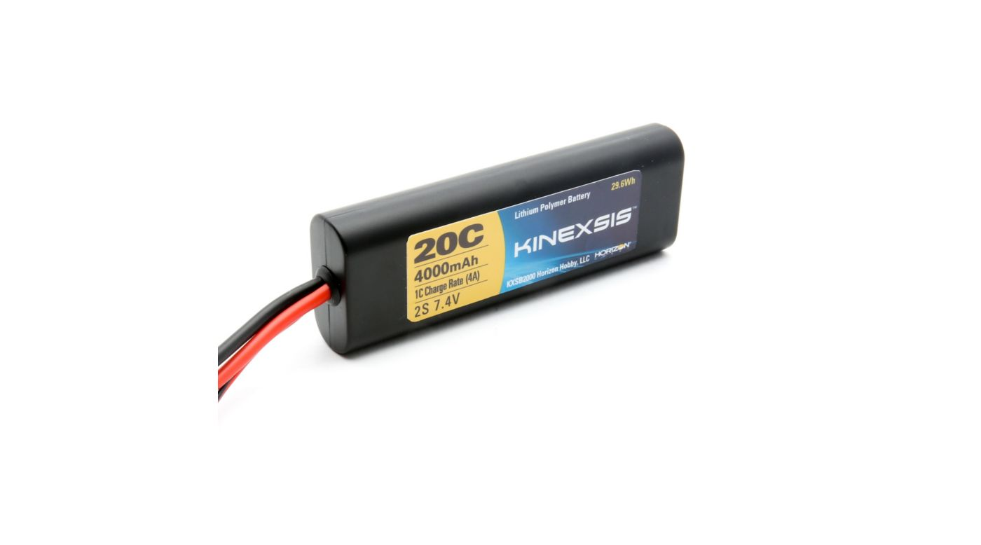 Image for 7.4V 4000mAh 20C 2S LiPo Battery: Hardcase, TRA from HorizonHobby