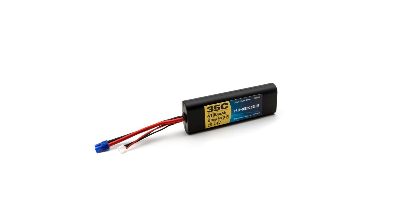 Image for 7.4V 4100mAh 35C 2SLiPo Battery Hard Case: EC3 from HorizonHobby