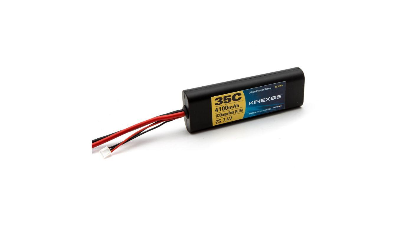 Image for 7.4V 4100mAh 35C 2SLiPo Battery Hardcase: TRA from Horizon Hobby