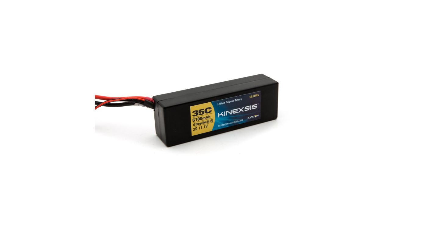 Image for 11.1V 5100mAh 35C 3S Hardcase LiPo Battery, EC3 from HorizonHobby