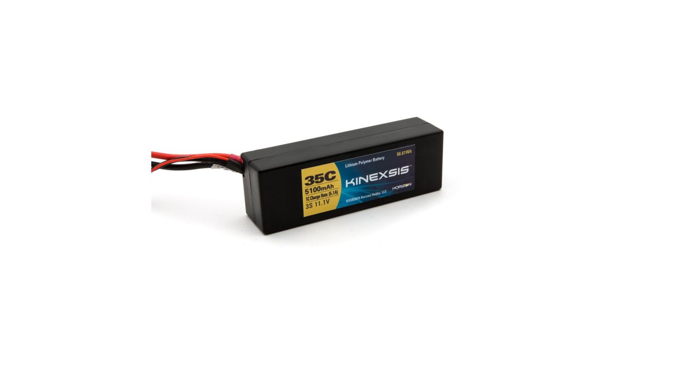 Image for 11.1V 5100mAh 35C 3S LiPo Battery: Hardcase, TRA from HorizonHobby