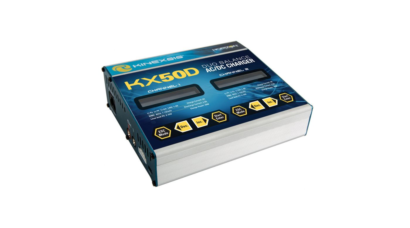 Image for KX50D Duo 2 x 50W AC/DC Charger from HorizonHobby