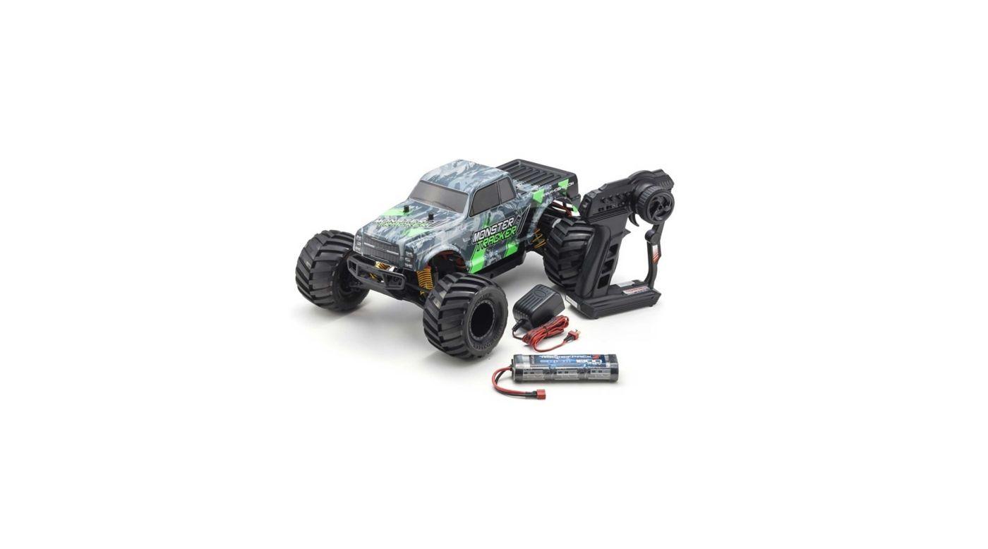 Image for 1/10 Monster Tracker Green 2WD Monster Truck Brushed RTR from HorizonHobby