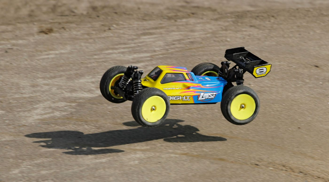 Image for 1/14 Mini 8IGHT 4WD Buggy Brushed RTR with AVC, Blue from HorizonHobby