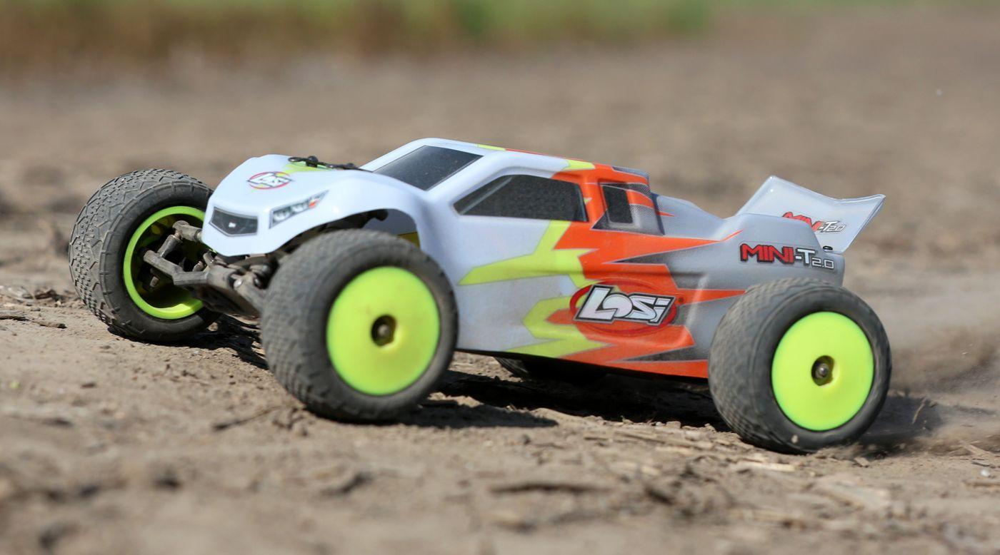 Image for 1/18 Mini-T 2.0 2WD Stadium Truck RTR, Gray/White from HorizonHobby