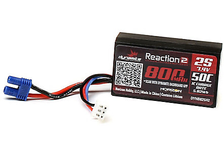 Dynamite Reaction 2.0 7.4V 2S 800mAh 50C Li-Po Battery