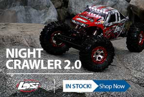 The Losi Night Crawler 2.0 delivers terrain-conquering capabilities, leaving nothing standing between you and driving almost anywhere you desire.