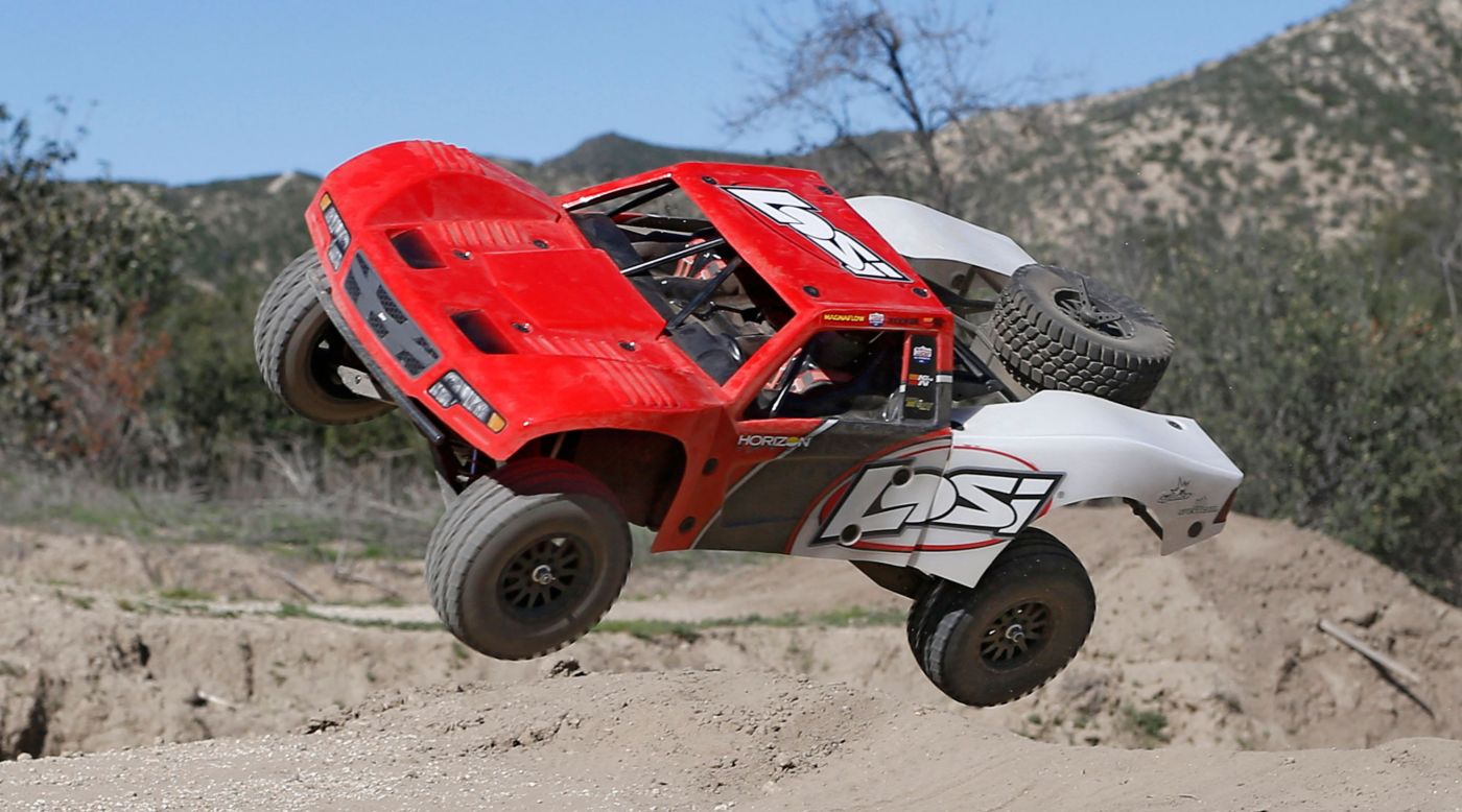 Image for 1/10 Baja Rey 4WD Desert Truck Brushless RTR with AVC, Red from HorizonHobby
