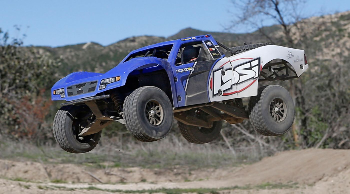 Image for 1/10 Baja Rey 4WD Desert Truck Brushless  RTR with AVC, Blue from Horizon Hobby