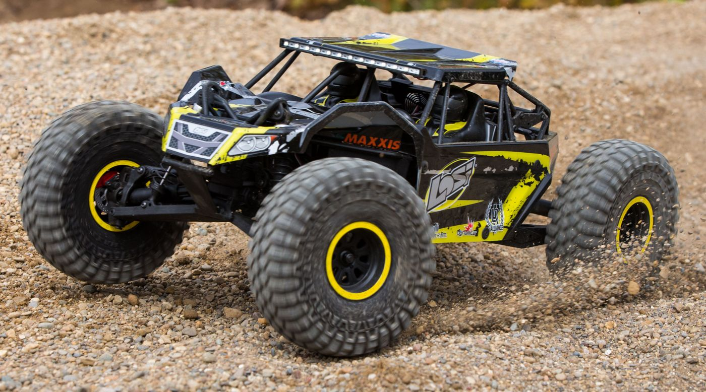 Image for 1/10 Rock Rey 4WD Brushless RTR with AVC, Yellow from Horizon Hobby