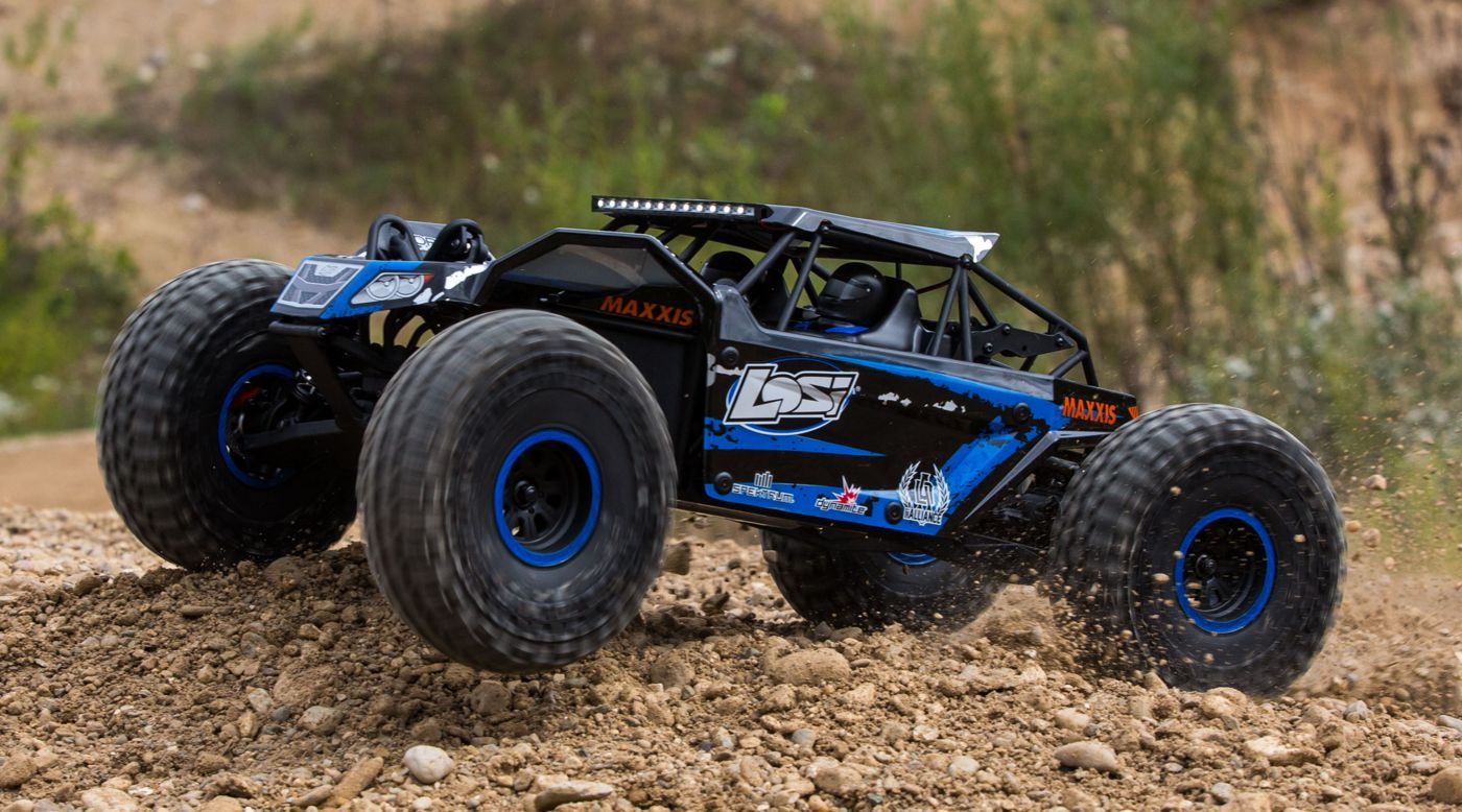 Image for 1/10 Rock Rey 4WD Brushless RTR with AVC, Blue from Horizon Hobby