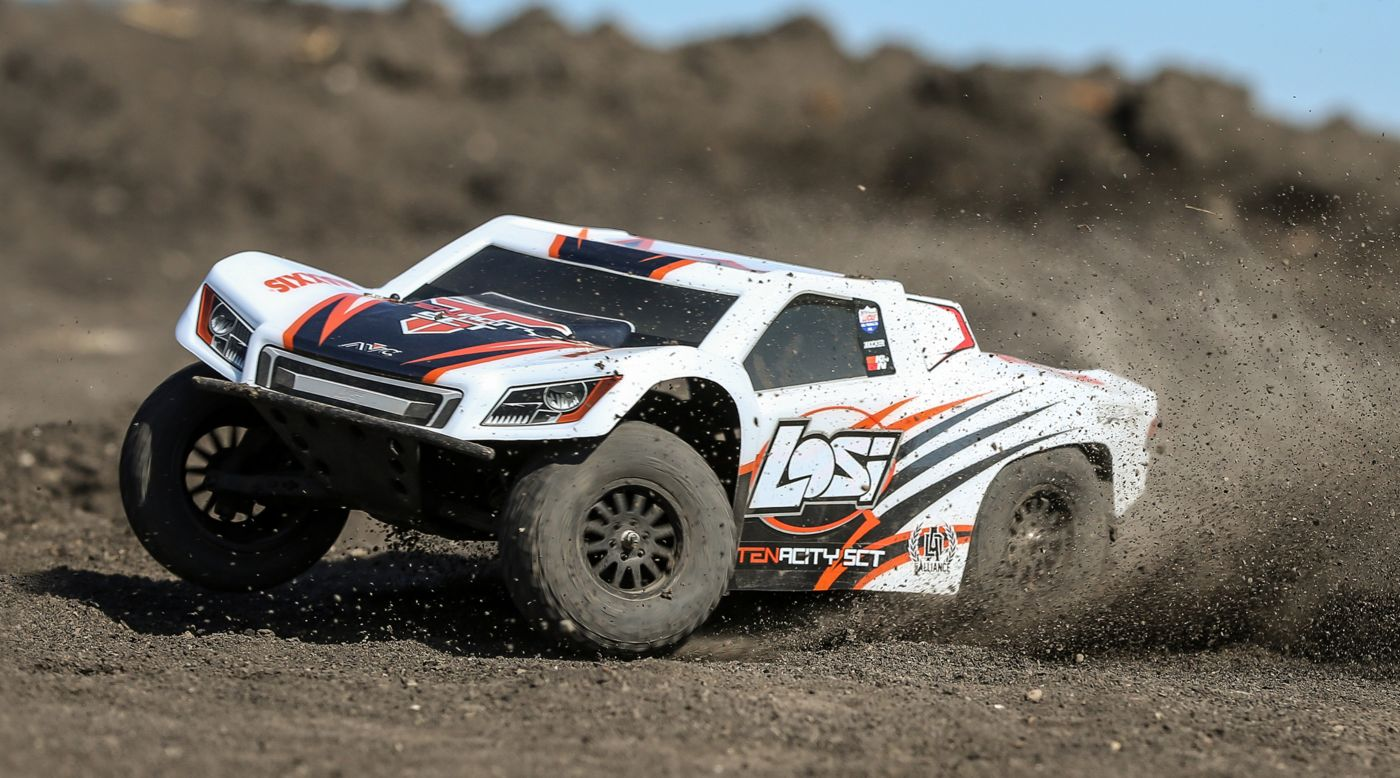 Image for 1/10 TENACITY 4WD SCT Brushless RTR with AVC, White/Orange from HorizonHobby
