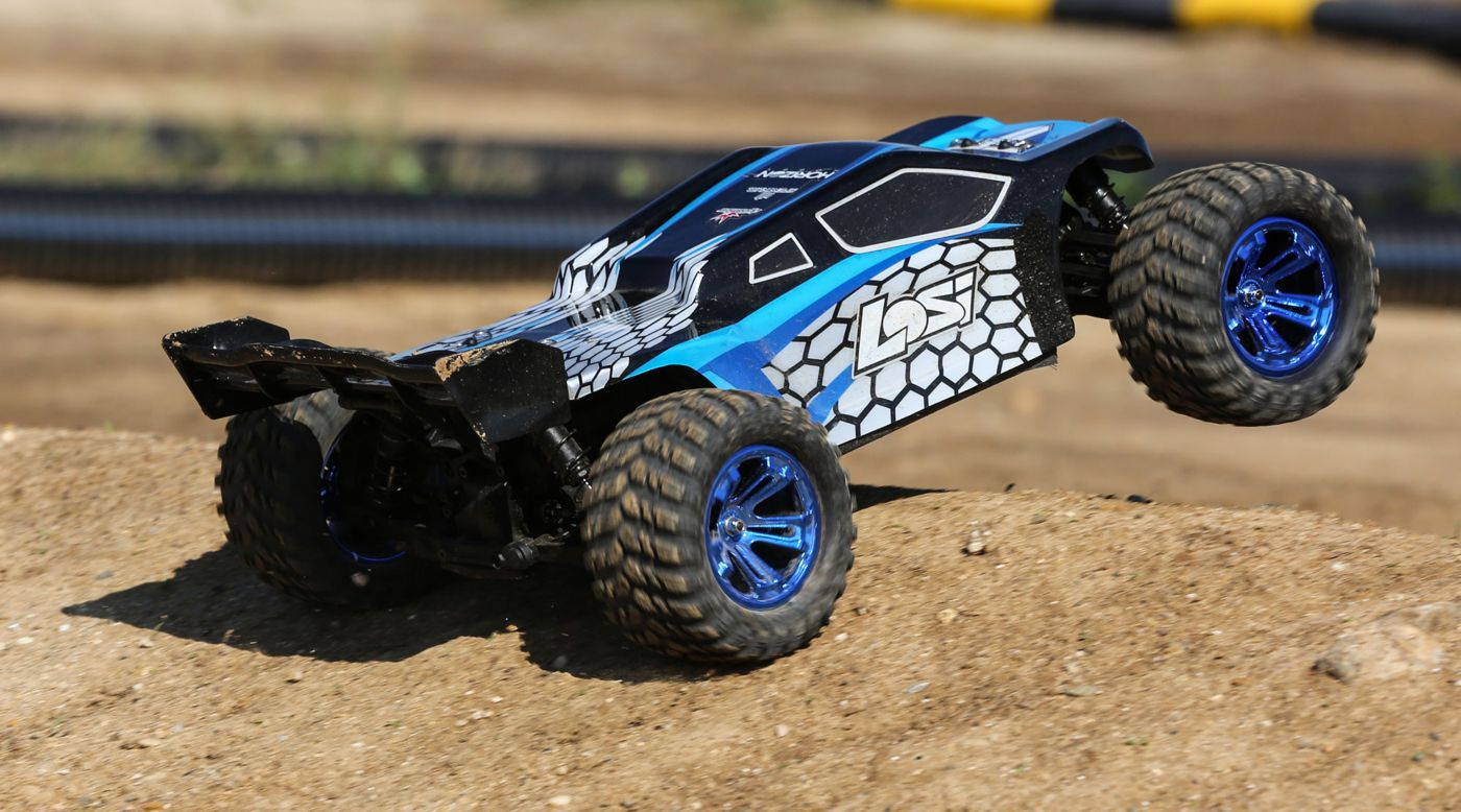 Image for 1/10 TENACITY-T 4WD Truggy Brushless RTR with AVC, Blue/Black from HorizonHobby