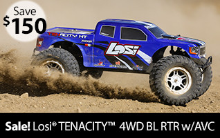 Losi 1/10 TENACITY 4WD Monster Truck Brushless RTR with AVC