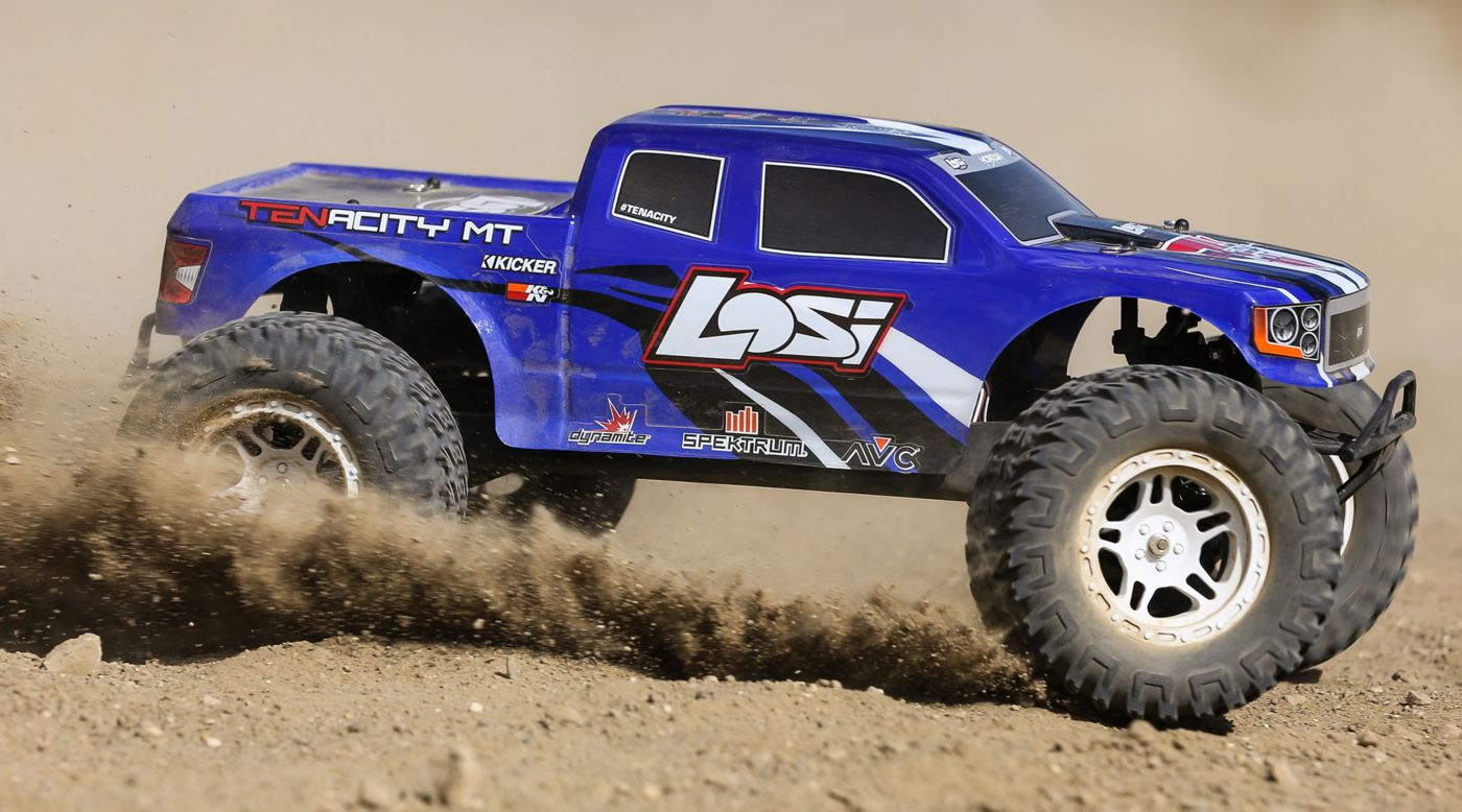 Image for 1/10 TENACITY 4WD Monster Truck  Brushless RTR with AVC, Blue from HorizonHobby