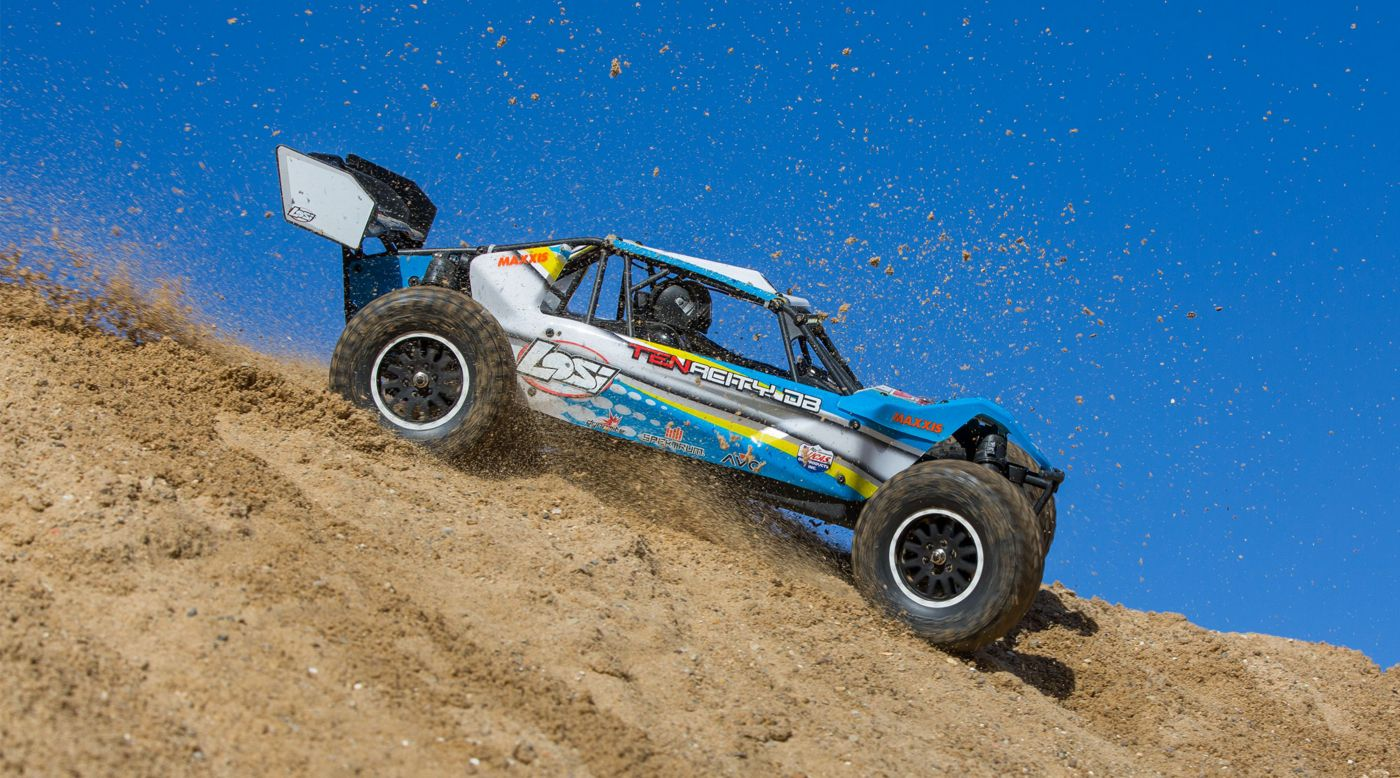 Image for 1/10 TENACITY-DB 4WD Desert Buggy RTR with AVC, Blue/Yellow from HorizonHobby