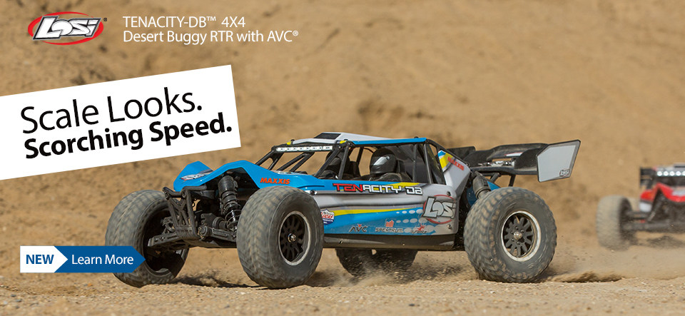 The Losi TENACITY-DB RTR is one tough buggy, delivering fun, speed and performance.