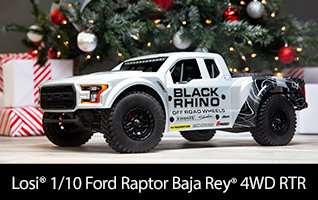 Losi 1/10 Ford Raptor Baja Rey 4WD Desert Truck Brushless RTR