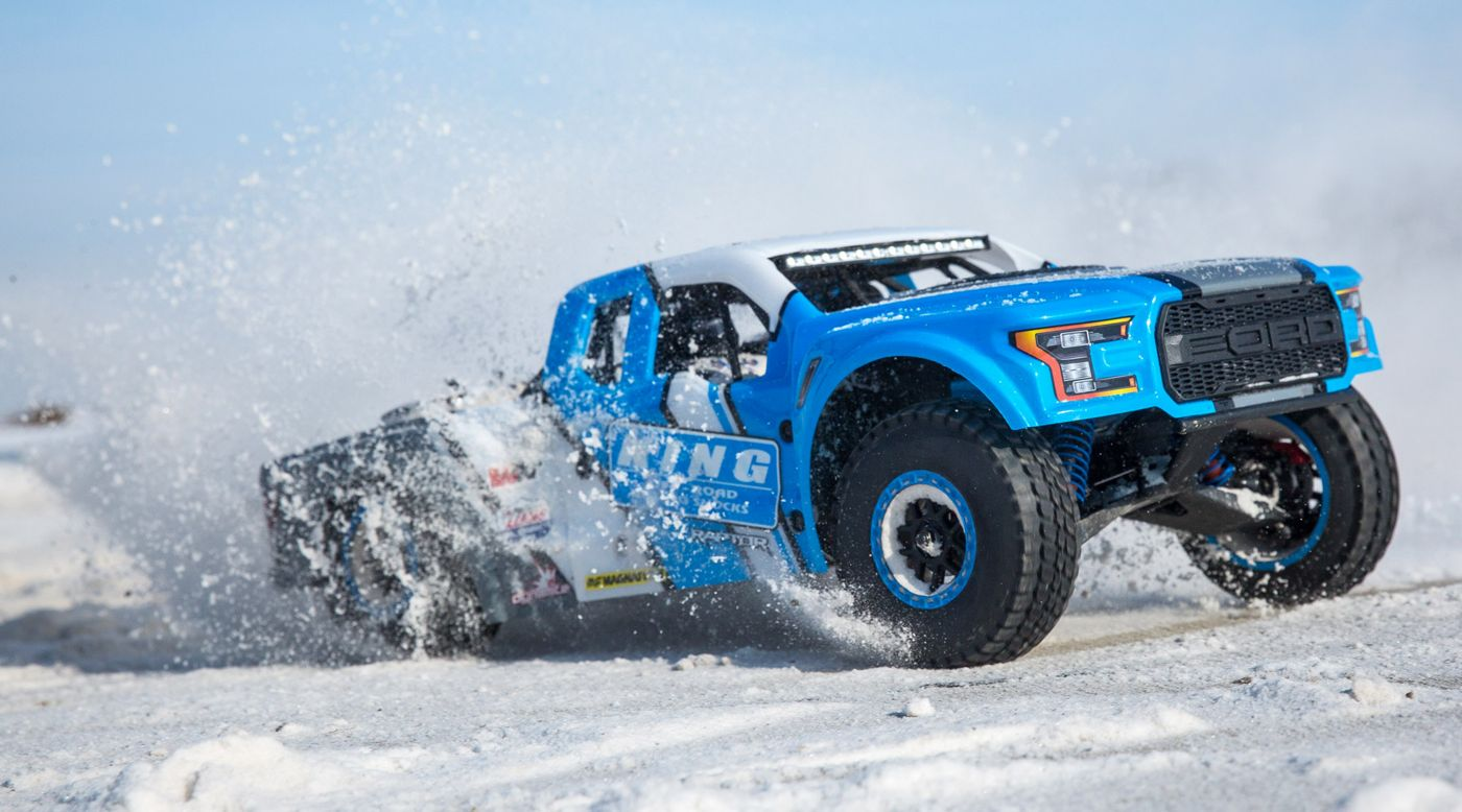Image for 1/10 Ford Raptor Baja Rey 4WD Desert Truck Brushless RTR, King Shocks from HorizonHobby