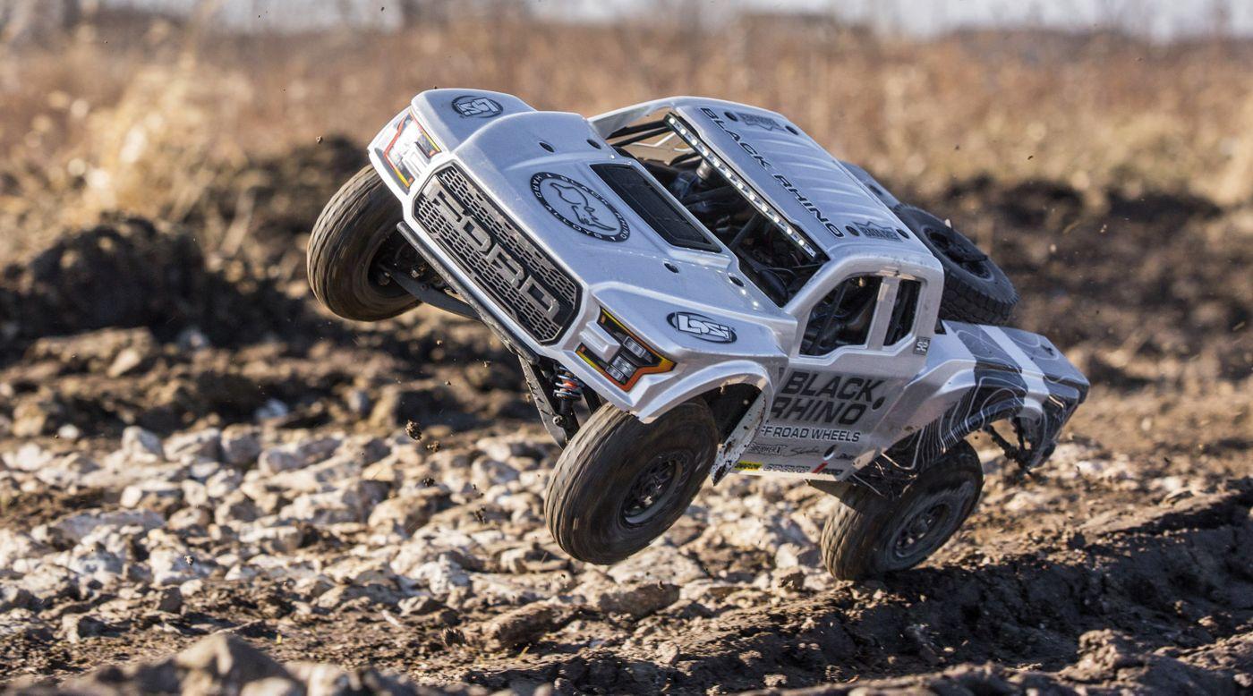 Image for 1/10 Ford Raptor Baja Rey 4WD Desert Truck Brushless RTR, Black Rhino from HorizonHobby