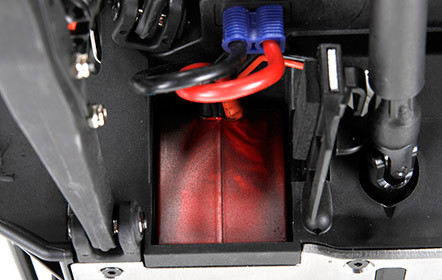 Akkueinschub über das Fahrzeugheck