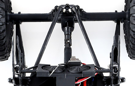 Realistic 4WD Chassis with Long-Travel Suspension