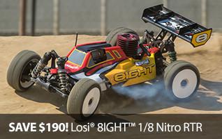 Losi 8IGHT RTR Nitro Truggy LOS04010 TLR Team Losi Racing
