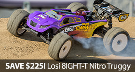 Save $225 off Losi 8IGHT-T RTR Night Truggy Off Road TLR