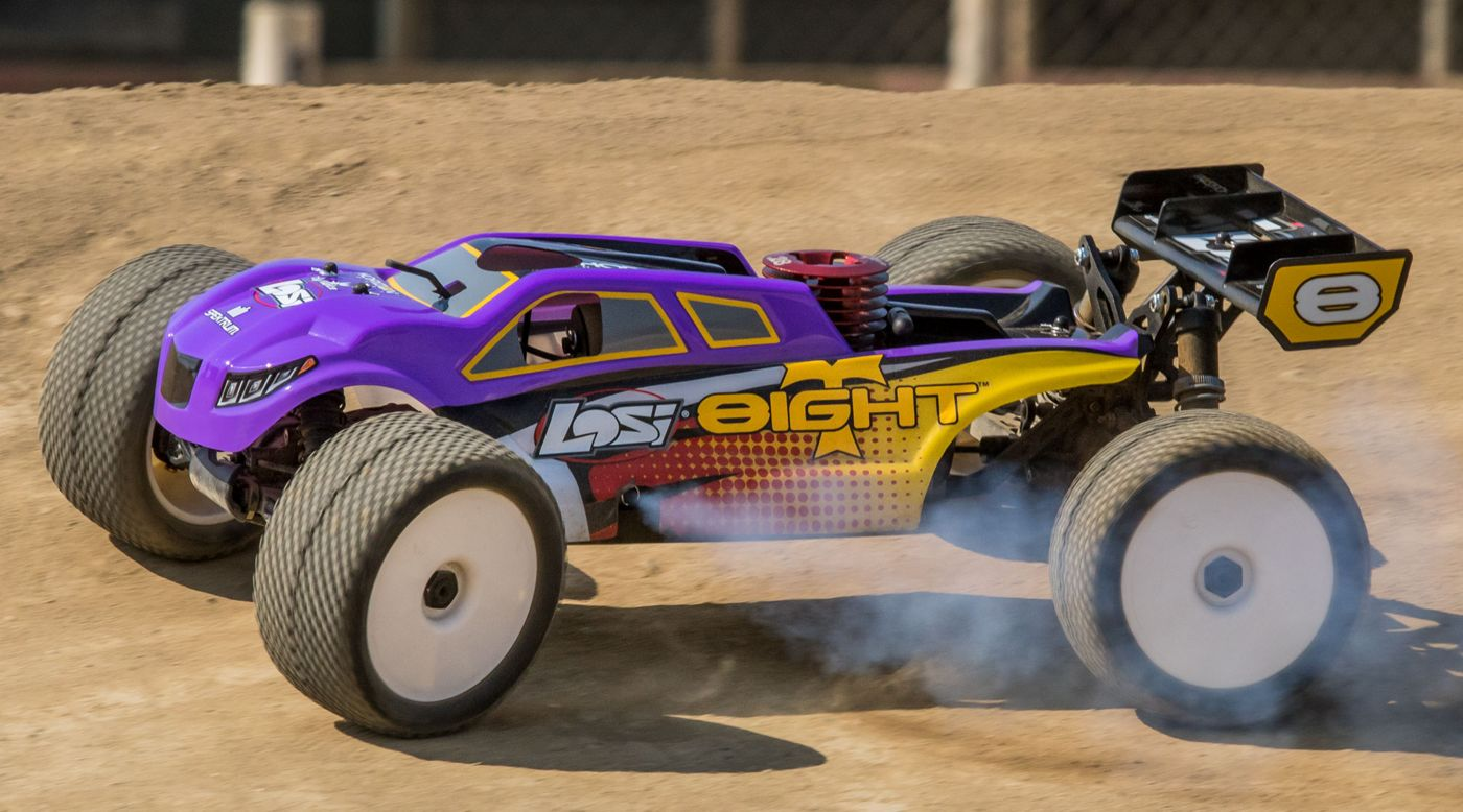 Image for 1/8 8IGHT-T 4WD Truggy Nitro RTR, Purple/Yellow from HorizonHobby